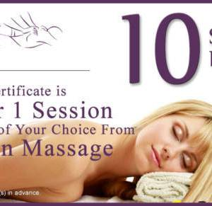 10 sessions gift certificate