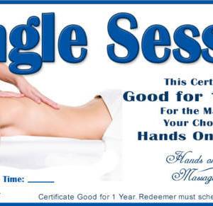 single session gift certificate